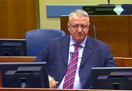 Vojisllav Shesheli gjatë gjykimit në Tribunalin e Hagës | Foto: ICTY