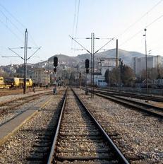 Stacioni i trenit n� qytetin e Vel�s.